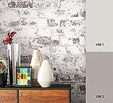 NEWROOM Steintapete Tapete Beige Mauer Stein Modern Vliestapete Vlies moderne Design 3D Optik Steintapete Ziegelstein Backstein Mauerwerk Klinker Loft inkl. Tapezier Ratgeber