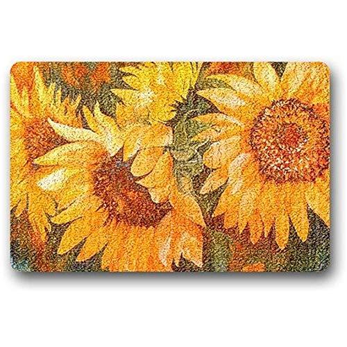 podingi Teppich-waschbar Sonnenblumen Indoor/Outdoor Decor Teppich 40X60cm