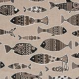 MIRABLAU DESIGN Stoffverkauf Baumwolle Canvas schwarze