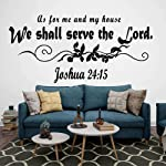 Wall Stickers Murals As For Me And My House We Will Serve The Lord Wall Decal Living Room Bible Verse Jesus Words Wall...