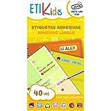 ETIKIDS 40 Etiquetas adhesivas laminadas personalizables multiusos con iconos de cuentos (Funny Cuentos)