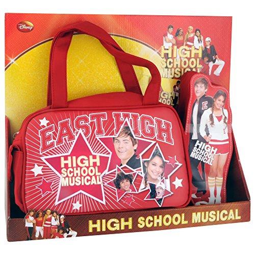 Preisvergleich Produktbild Disney Turnbeutel High School Musical Geschenksets Handtasche mit Federmäppchen Rot 37906-DI