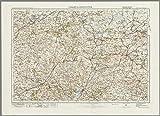 Chard & Axminster–ORDNANCE Survey von England und Wales 1920Serie–Größe 73x 100cm