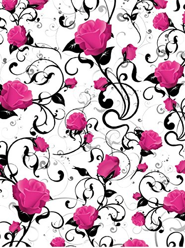 2-sheets-of-pink-rose-thick-quality-gloss-wrapping-paper