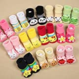 #1: Sajani New Born Baby 1 Cute Cartoon Faced Soft Socks For Babies (Colour and Print may vary)(Pack of 1)