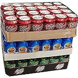 Dr. Pepper Classic, Spezi & Mountain Dew Classic je 24 x 0,33l Dose XXL-Paket (72 Dosen gesamt)