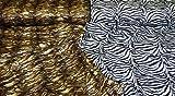 Dekostoff Stoff Überwurf Wild Animal Tiger Zebra Leo
