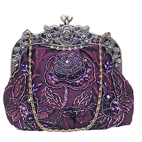 Belsen, Borsa a spalla donna rosso Red Taglia unica Purple