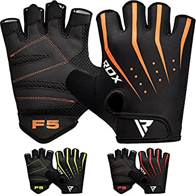 RDX Gym Fitness Handschuhe Gewichtheben Bodybuilding Sports Trainingshandschuhe Workout Gloves (MEHRWEG) von RDX
