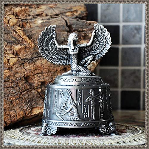Ainim music box in metallo, scatola musicale egizia di mitologia della dea iside, regalo creativo, ornamento domestico