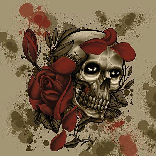 Apple iPhone SE Case Skin Sticker aus Vinyl-Folie Aufkleber Tattoo Rock n Roll Totenschädel DesignSkins® glänzend