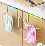 ZZ ZONEX 2 Pc Towel Rack Hanging Holder Organizer Bathroom Kitchen Cabinet Cupboard Hanger