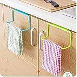 ZZ ZONEX 2 Pc Towel Rack Hanging Holder Organizer Bathroom Kitchen Cabinet Cupboard Hanger