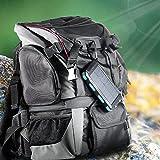 wasserdichte 10000mAh Solar Power Bank, Solar Ladegerät, Externer Akku mit superhelle Taschenlampe, Akku pack für Handy (schwarz-blau) - 6