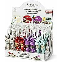 Paraguas de chocolate 4 sabores diferentes - 32 unidades