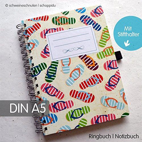 Ringbuch Notizbuch DIN A5 Flip Flops