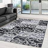 Moderner Designer Glitzer Wohnzimmer Teppich Toscana 3130 Schwarz - 80x300 cm