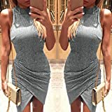 FEITONG Women Irregular Perspective Sexy Sleeveless for sale  Delivered anywhere in Ireland