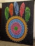 Rainbow Ombre Farn bedruckter Wandteppich Mandala Tapisserien indische Baumwolle Tagesdecke Picknick Decke Wand Kunst Hippie Tapisserie 100% Reine Baumwolle Mandala Wandteppich Wandbehang Wandbehang