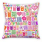 #8: Aart Happy Mother'S Day Quote In The Beautiful Background Printed Cushion Cover (Combo Gift Set )