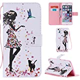 Ooboom Funda para Apple iPod Touch 6/5 Flip Wallet Case Cover Elegante Carcasa Piel PU Billetera...