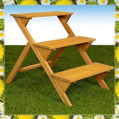 Blumentreppe Blumenbank Blumenständer mit 3 Ebenen in Holz von TP-Products - Du und dein Garten