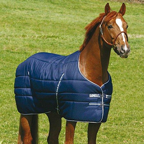 Horseware Stalldecke Winter Rambo Stable Rug 400g - navy/navy white, Groesse:115