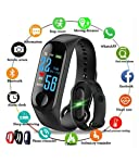 Celrax M3 Smart Band Fitness Tracker Watch Heart Rate with Activity Tracker Waterproof Body Functions Like Steps Counter...