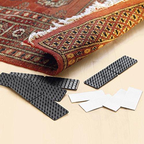 Tri Teppich-Rutsch-Stopp, 4 StückHaftmatten selbstklebend Antirutschmatte Teppichunterlage...