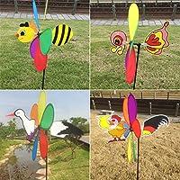 JAGETRADE Jardín Herramientas Nuevas Ventas 3D Grande Animal Bee Molinillo de viento giratorio Whirligig Yard Decor