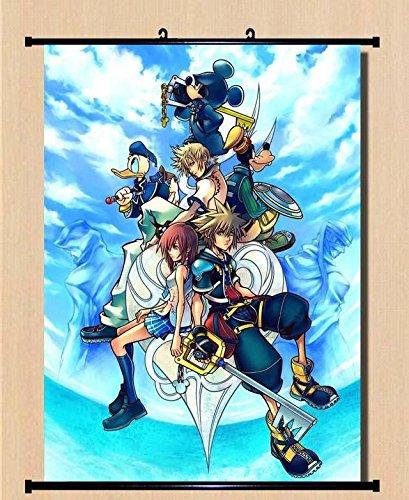 S Spiel DISNEY'Home Decor Serie KINGDOM HEARTS Wall Scroll Poster, Gemälde 60 x 80 cm - 032
