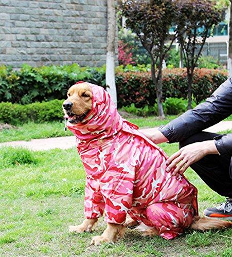 Zhxinashu Impermeable Camuflaje Perros Mascota Impermeable