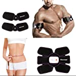ABS Stimulator Abs Muscle Toner EMS Portable Rechargeable Gym Workout Training and Home Office Fitness Toning Belt...