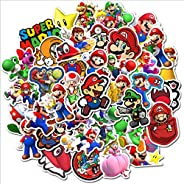 Super Mario Stickers of 50 Vinyl Decal Merchandise Laptop Stickers for Laptops, Computers, Hydro Flasks, Skate
