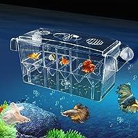 Multifunktionale Aquarium Ablaichkasten aus Acryl, Aquarium Fisch Züchter Brutplatz, Brutstätte für Fischzucht, Aquarium, Inkubator,Isolationsbox(27x9x10.5cm)
