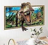 HALLOBO XXL Wandtattoo Wandaufkleber Fenster Jurassic Park Dinosaurier Wohnzimmer Schlafzimmer Kinderzimmer Küche Sticker Wand Bild Wand Aufkleber Deko Versand aus Deutschland