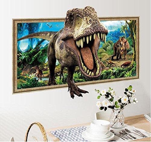 HALLOBO® XXL Wandtattoo Wandaufkleber Fenster Jurassic Park Dinosaurier Wohnzimmer Schlafzimmer Kinderzimmer Küche Sticker Wand Bild Wand Aufkleber Deko Versand aus Deutschland - Park Schlafzimmer