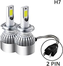 AOW ATTRACTIVE OFFER WORLD C6 H-7 All in One 36W/3800LM LED Car High/Low Beam Bulb Lamp 6500K Headlight Conversion Kit for Pulsar 220 - Pack of 2