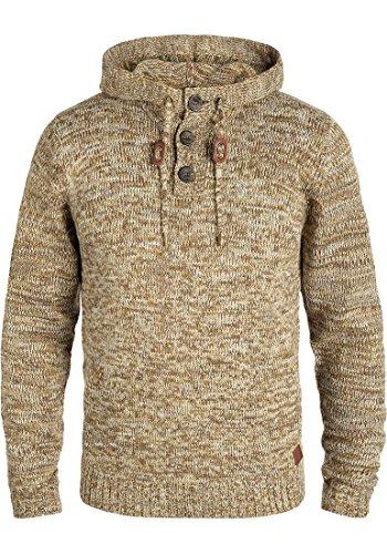 Blend Traidor Herren Winter Pullover Strickpullover Kapuzenpullover Grobstrick Pullover mit Kapuze, Größe:XL, Farbe:Mocca Mix (70816)