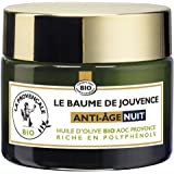 La Provençale - Le Baume de Jouvence Anti-Age Nuit - Soin Visage Nuit - Certifié Bio - Huile d'Olive Bio AOC Provence - Pour
