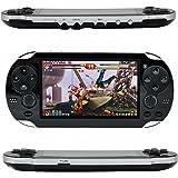 QUMOX Console per videogiochi retroilluminata, Leezo 1PC Ricaricabile console per videogiochi da 8,3 pollici 8 GB Giochi grat