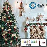 CCLIFE Luce a Candela per Albero di Natale, Luci LED Decorazione, Cambio colore LED tramite telecomando, con Clip, 20/30 pezzi, Colore:Rosso, Dimensione:30PCS