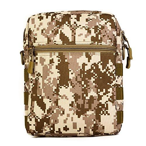 Taktisch Molle Umhängetasche, 6 Farben Outdoor Kamera Daypack Rucksack Handtasche Schultertasche mit Trageriemen von FLYHAWK K316-Wüsten-Digital