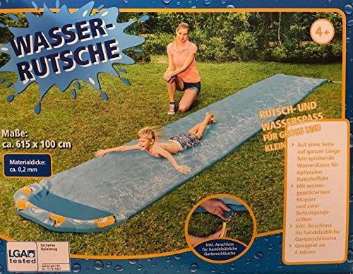 RB&G trade Wasserrutsche Wasserbahn Gartenrutsche Badespaß 615 x 100 cm (Blau)