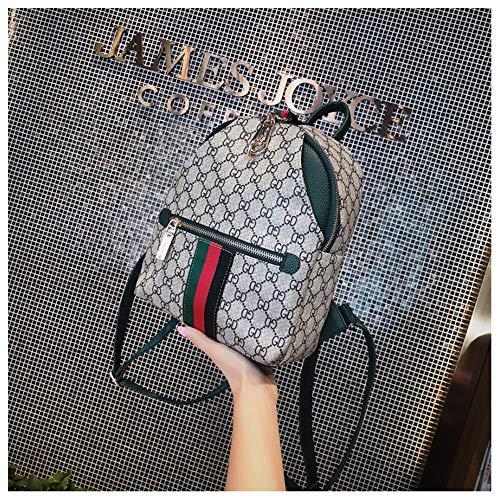 Imagen de woairan bolso de moda mujer raya de impresión vintage handbag señoras ocio multifunción simple mochila de viaje alternativa