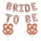 Tumao 16 Zoll Bride to BE Rosa Folienballons Luftballons , 12 Zoll Rose Gold Luftballons Latex Luftballons Geburtstag Party , Geburtstag, Brautdusche, Party Dekoration, Valentinstag.