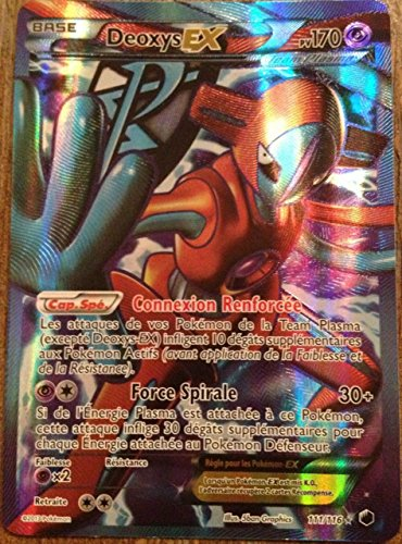 carte Pokémon Deoxys Ex FULL ART 111/116 GLACIATION PLASMA NEUF FR