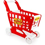 (Red) - Boley Mart Red Shopping Cart - Grocery Shopping Pretend Play Baby Shopping Cart Toy for Toddlers - Some Assembly Requ
