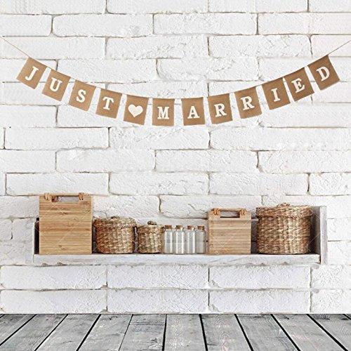 Stonges Just Married Wedding Bunting Cardboard Wedding Decoration