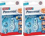 tesa Powerstrips® Waterproof, wasserfeste Klebestreifen, max. 2 kg, spurlos wieder ablösbar (2er Pack = 12 Stück)